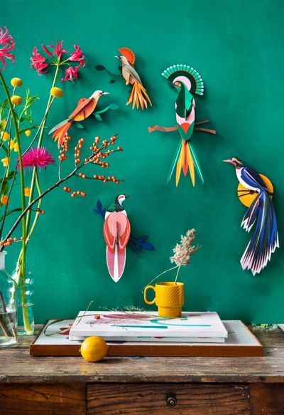 artful self assemble cardboard 3D decorations for adults and kids. Wall decorations, design objects