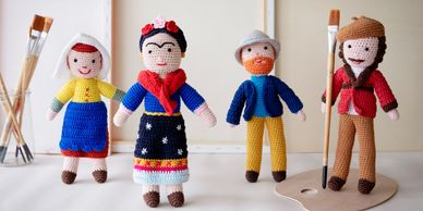Global Affairs UK eco handmade knitted crocheted dolls kids accessories toys cuddles ecotoys organic