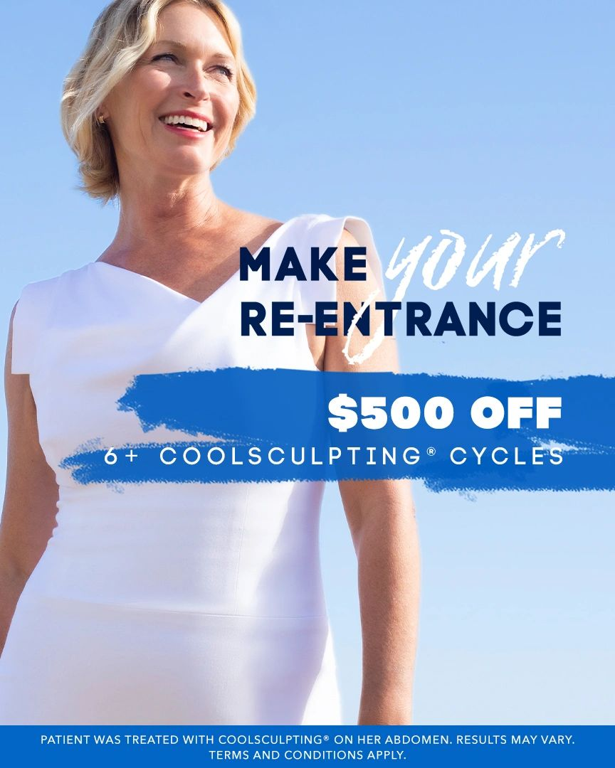 Coolsculpting $500 off 6+ coolsculpting cycles at Advanced Women's Care, Aspire Medical Spa