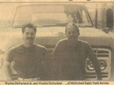Waylon McFarland Jr. with his father when they first started the company back in the 1980's.