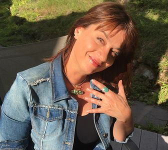 Aurora Cravens Fain Loving Her Turquoise Jewelry