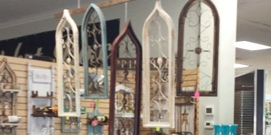 We have Gothic windows in many sizes and colors. For a nominal additional charge we can custom color