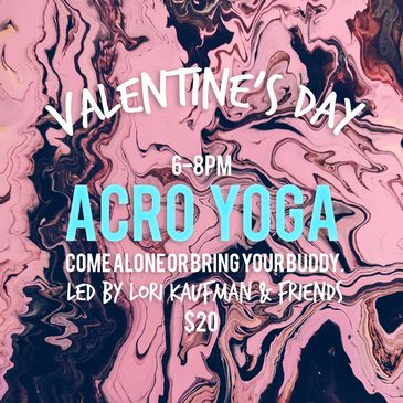 Bring a buddy or come alone to practice partner yoga with expert Lori Kaufman (and friends).