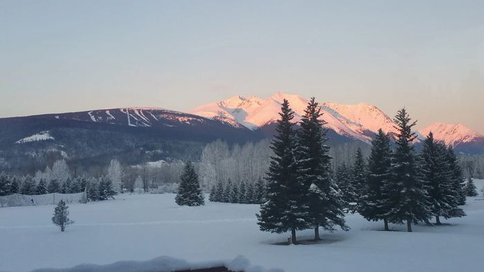 Beautiful winter views from Bulkley Valley RV Park