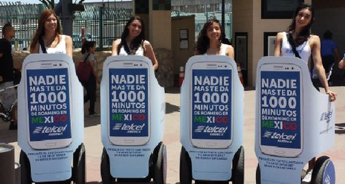An example photo of segway outdoor advertising from National Mobile Billboards, LLC