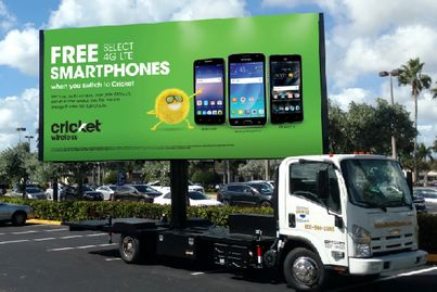 An example photo of digital mobile billboard outdoor advertising from National Mobile Billboards.