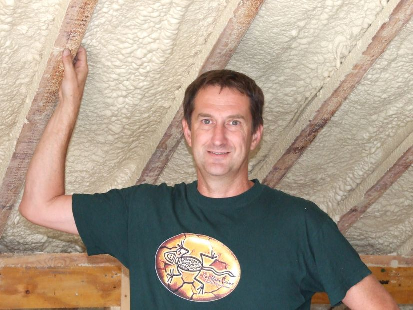 Owner Operator Gary Hase of Polyurethane Foam Insulation