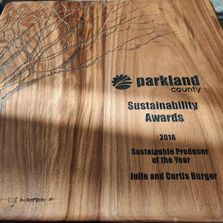 Parkland County Sustainability Awards ALUS Burger Producer of the Year