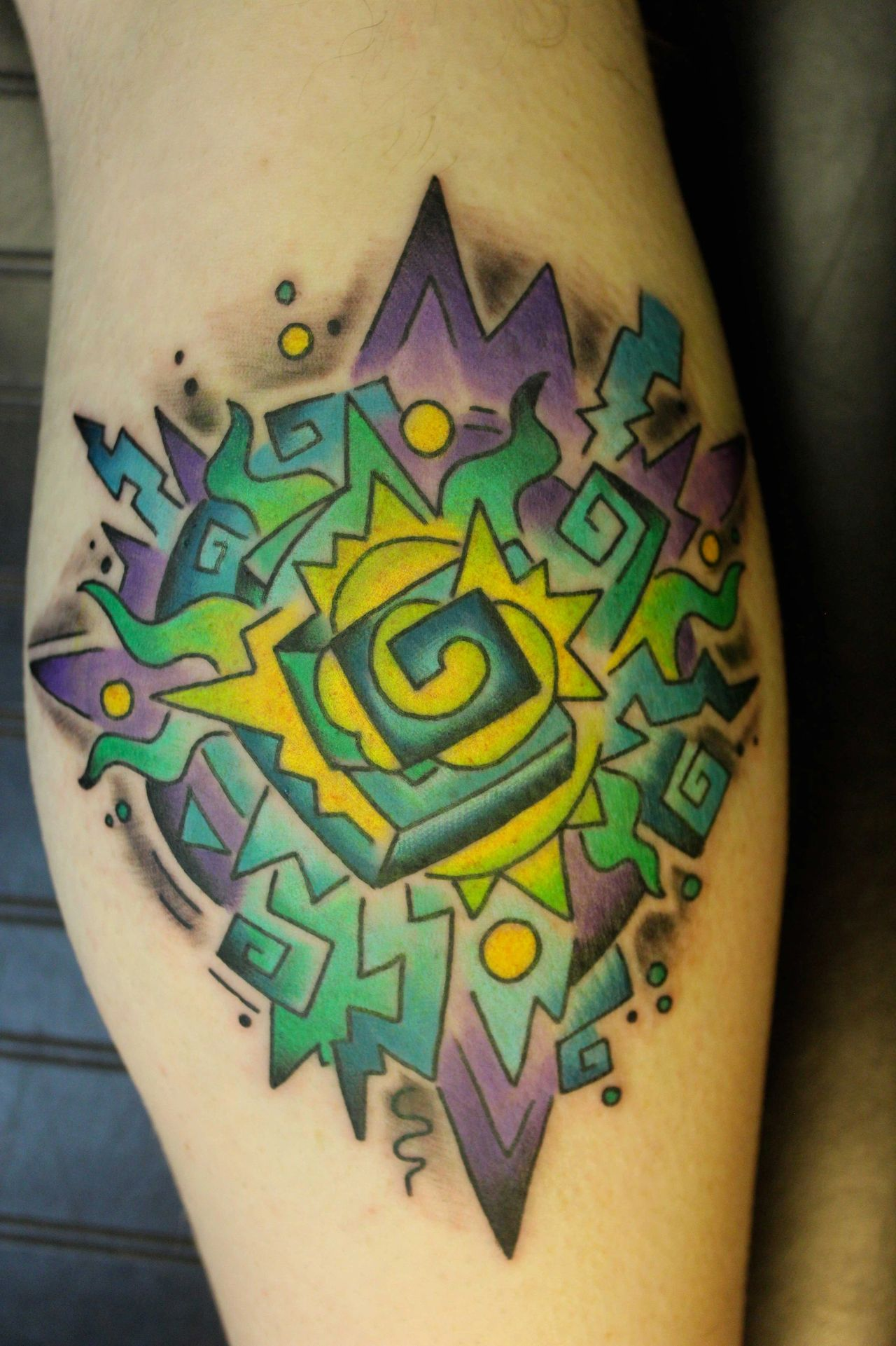 Psychedelic Geometry By Richard Lamos Bliss Tattoo Asheville