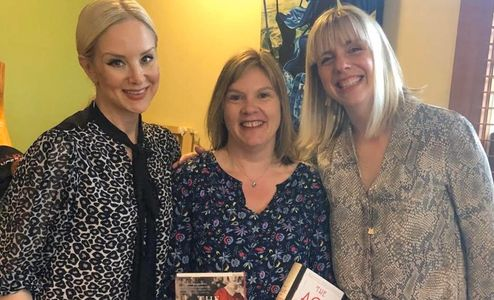 Meeting two wonderful authors: Jenna Blum, The Lost Family, Whitney Scharer, The Age of Light
