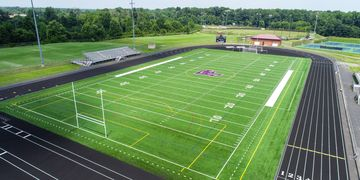Aerial overviews of sports practices and facilities