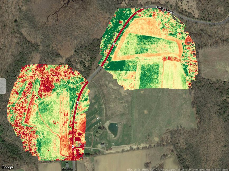 precision agriculture, drones in agriculture, crop surveys, drone deploy, NDVI