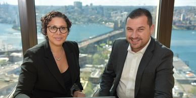 Photo of aboriginal woman and man in corporate setting photograph indigenous photographer wayne quilliam