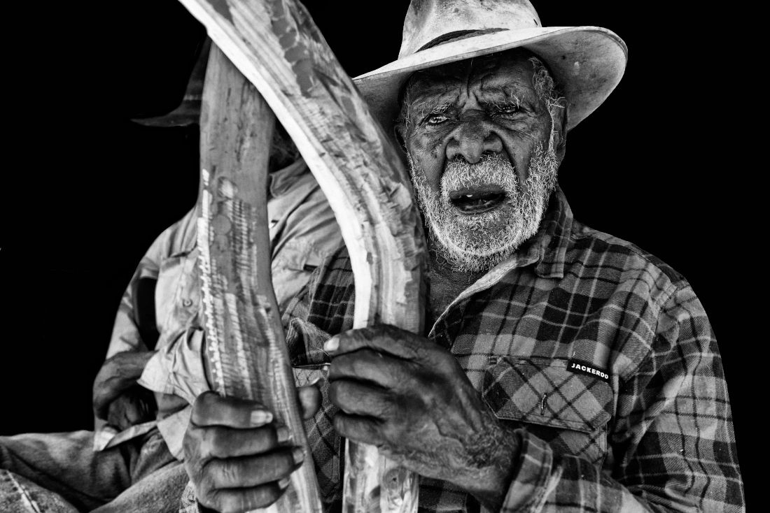 photo of aboriginal man in remote australia by indigenous photographer wayne quilliam