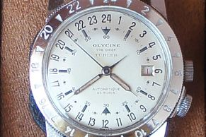 Vintage Glycine The Chief, very rare only one Tiffany Turler