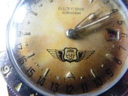 Vintage Glycine Airman military  watch insignia Laos Vietnam Indo-China
