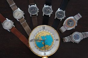 For sale vintage Glycine Airman Breitling  Doxa dead beat seconds watches