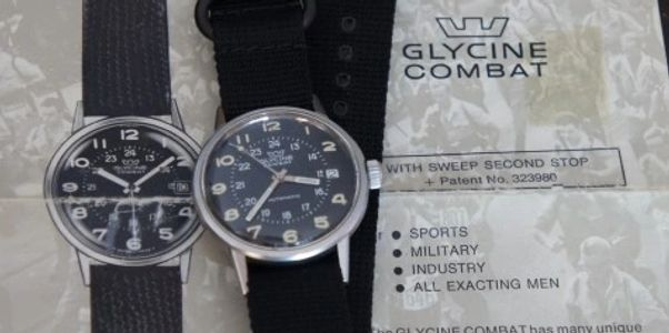 Vintage Glycine Combat from 1967 with hacking,Vintage Glycine Airman Watch,Glycintennial