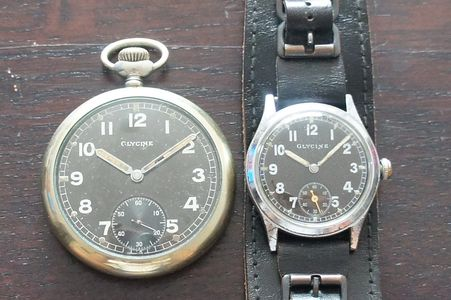 Vintage Glycine military issued watches DH AS1130