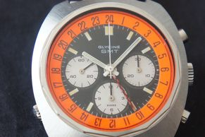 Very rare Glycine Airman SST Chronograph with Valjoux 724 movement Boeing Concorde