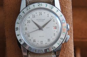 Vintage Glycine Airman AM PM, very early Glycine Airman AM PM