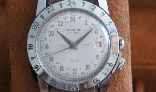 The very first Glycine Airman from 1954,Vintage Glycine Airman Watch,Glycintennial,Glycine Heritage