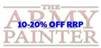 10 - 20 % discount off The Army Painter range of warpaints and accessories.