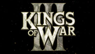 Kings of War, £rd Edition logo from the starter set.