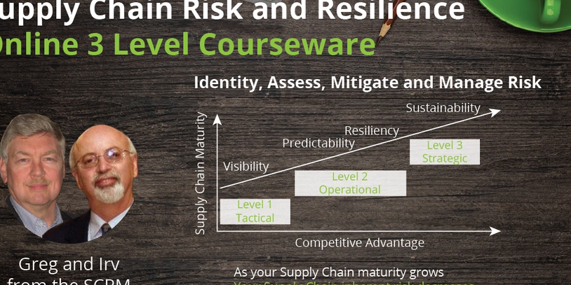 JUST IN! The Consortium has LAUNCHED a Three-level online course in Supply Chain Risk & Resiliency.