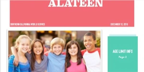 Alateen newsletter