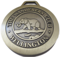 The Wanderers Club guest bag tag - antique gold no color