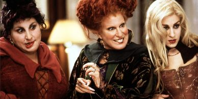 Kathy Najimy, Bette Midler and Sarah Jessica Parker portray witches in 'Hocus Pocus.'