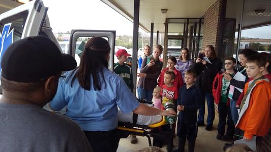 Homeschool families participate in a field trip to the E 911 Emergency Center in McMinn County.