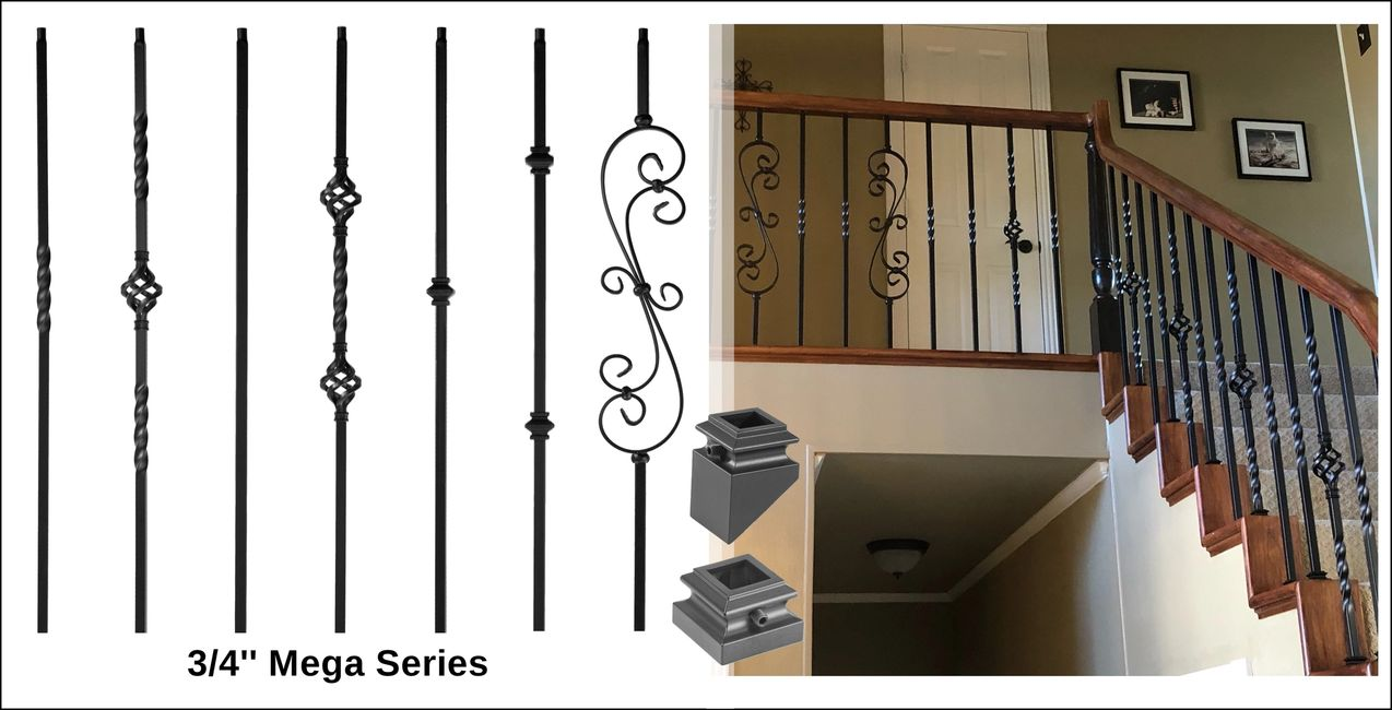 3/4'' mega iron balusters