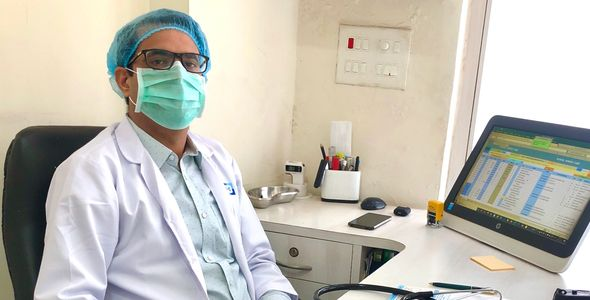 Doctor geared up for Treating Patients