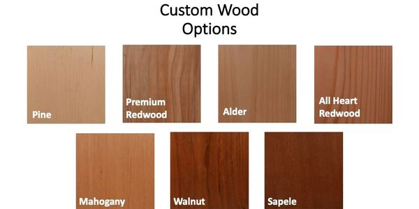 Custom wood options for your wine cellar.