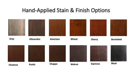 Hand-applied stain and finish options for your custom wine cellar