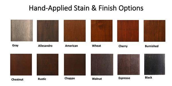 Hand-Applied Stain and Finish Options for custom wood wine cellars