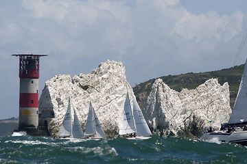 Sail the Round the Island Race with Alex Bennett .  Round the Island Race yacht charter.