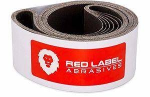 red label sanding belts 2 x 72