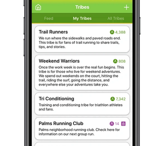 OptimumU Health & Wellness Tribes and Community Feature