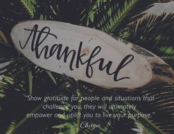 ChayaVeda Inspirational Greeting Card, Thankful