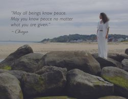 ChayaVeda Inspirational Greeting Card, peace