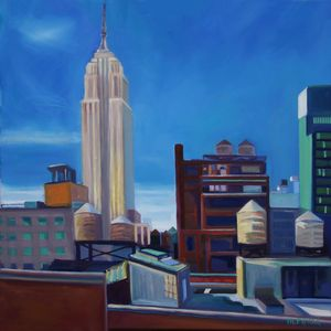 Empire State. Limited Edition print. USA. New York, Rooftops, watertowers