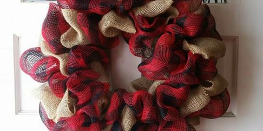 School spirit Burlap Wreath