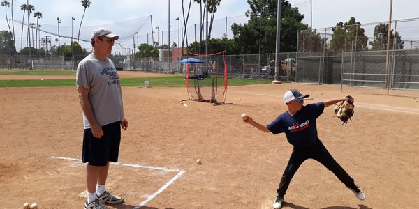 Dodger Tim Leary at SA camp