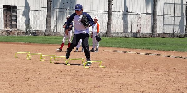 infield work at santa monica baseball academy!