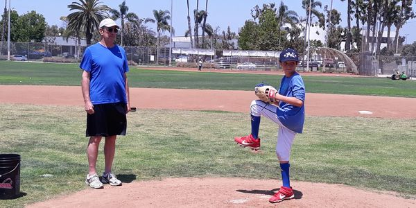 pitching at santa monica baseball academy