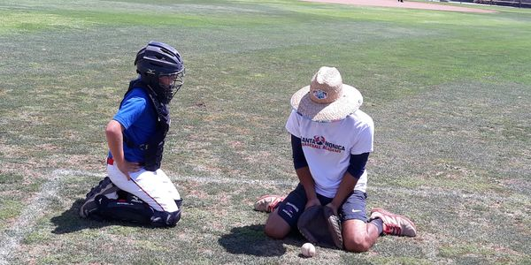 catching at santa monica baseball academy