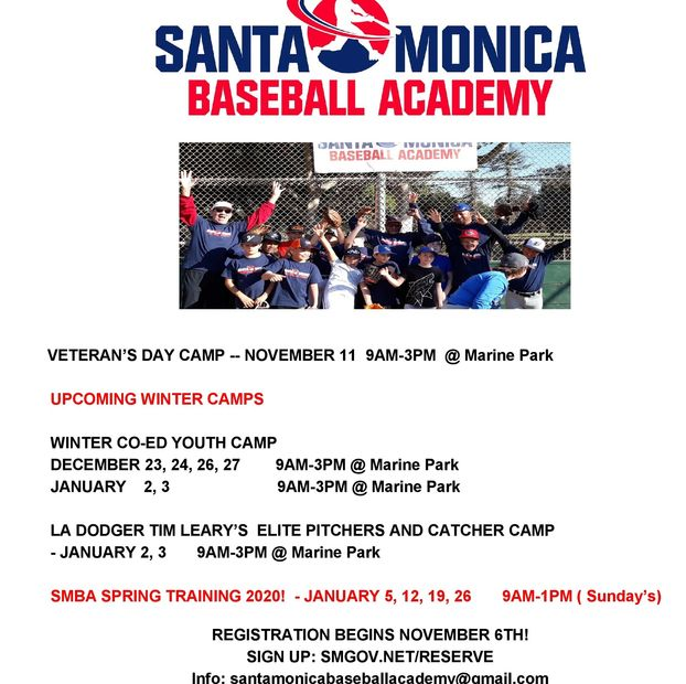 SANTA MONICA BASEBALL ACADEMY WINTER CAMPS